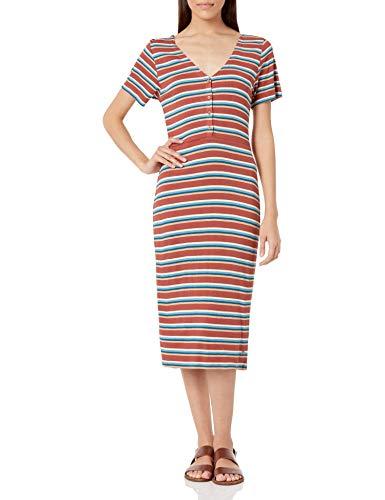 Roxy Women's Bring It On Buttoned Dress, Marsala Retro Paradise 211, M
