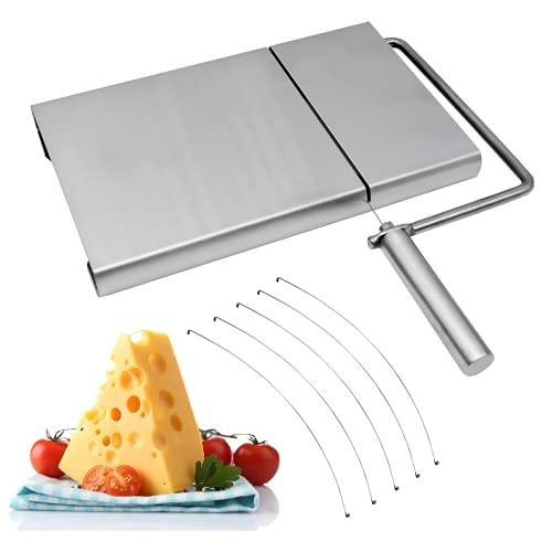 Cortador de queso, cortador de queso Cortador de alambre de acero inoxidable con tabla para servir