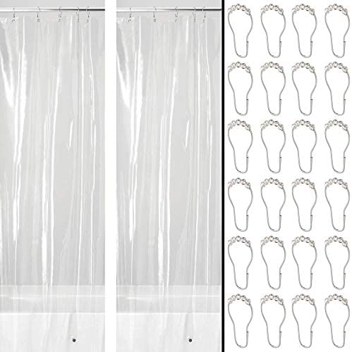 mDesign Waterproof Heavy Duty Shower Curtain Liner Premium Quality 4 8 Gauge Vinyl with Shower product image