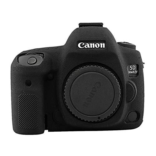 kinokoo - Custodia in silicone per Canon EOS 5D Mark IV per Canon EOS 5D Mark IV, superficie antiscivolo (nero)
