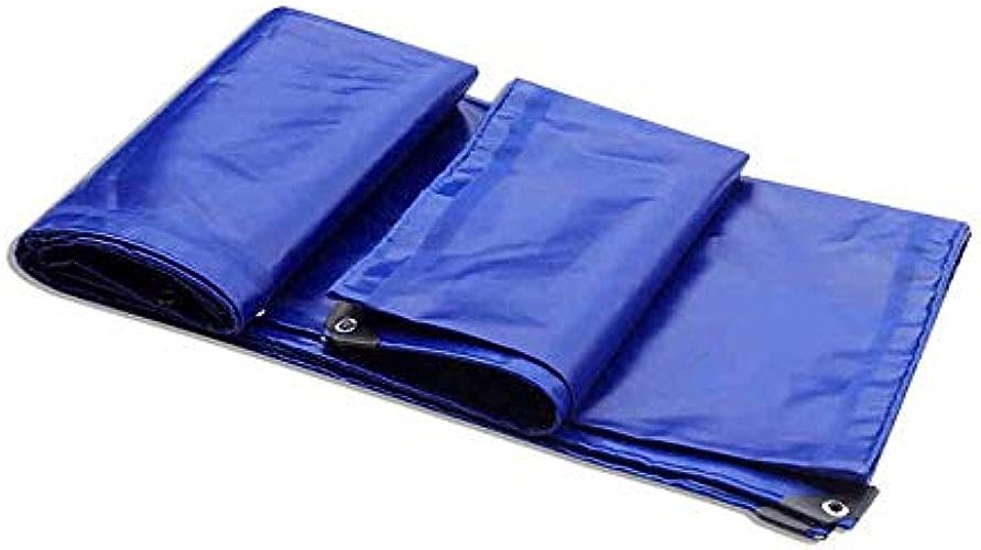 TIDLT épaissie Tissu Imperméable à l'eau Bache Trois Anti-Tissu Tissu Auvent PVC Enduit Tissu Voiture Bache Enduit Toile Bleu