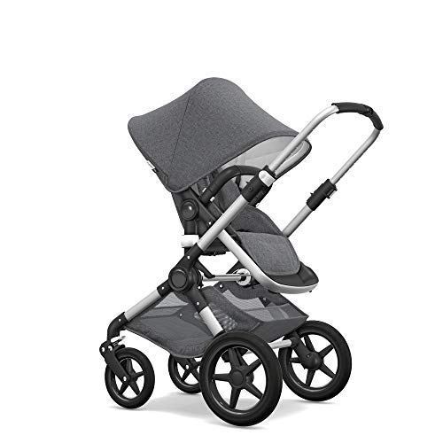 Bugaboo Fox Classic Complete Stroller, Alu/Grey Mélange - Fully-Loaded Foldable Stroller with Advanced Suspension and All-Terrain Wheels
