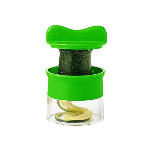 HaoHong Tragbares Spiralgerät- Good Grips spiralförmiger Gemüsehobel EIN ganzes Bündel an Gemüseschneider für Zucchini Pasta Nudeln Spaghetti