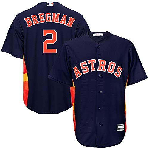 Outerstuff Alex Bregman Astros MLB Boys Youth 8-20 Cool Base Player Jersey (Navy Alternate, Youth Large 14-16)