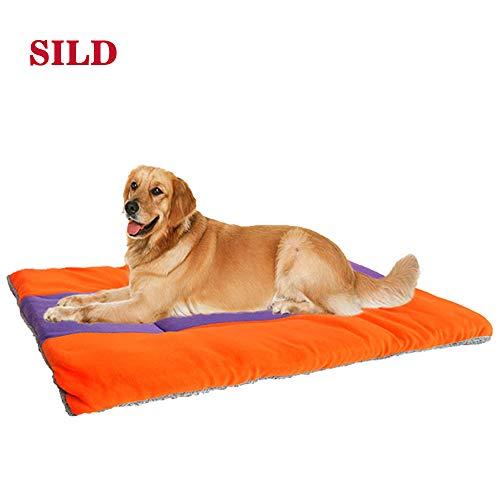 SILD Colchón para Perros Colchón para Mascotas Colchón Reversible para Perros Perros y Gatos Colchoneta Acolchada Suave(XL)