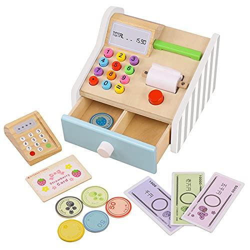 perfeclan Caja registradora de simulación, Juego de simulación, Juguete Interactivo, Caja registradora, cajero, Juego de Roles para niños