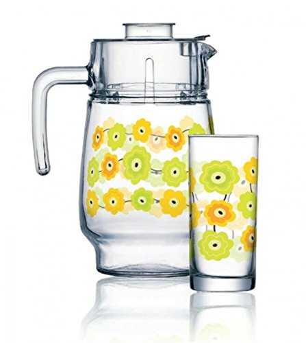 Luminarc Glass Glasses With Jug Set - 6 Pieces, Clear, 270 ml, 1600 ml