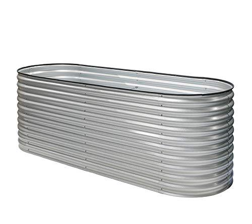 Westmann Metall Hochbeet Gartenbeet Grow Faster Silber 240x80x82 cm Pflanzbeet Frühbeet Kräuterbeet