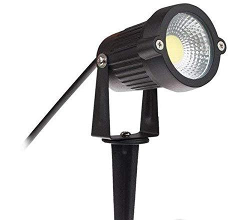 LineteckLED® Faretto Led Da Giardino 7W Luce Bianco Freddo 4000K-4500K, Per Esterni Ed Interni, Lampada Da Giardino Con Picchetto Interrabile, Impermeabile IP65