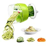 Spiralizer Vegetable Chopper, Fun Life Hand Held 4 in 1 Vegetable Spiralizer Slicer