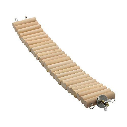 GNB PET Natural Wood Bridge for Small Animal, Dwarf Hamster, Mice, Gerbil, Chinchilla, Chipmunk, Flexible Suspension Ladder Bridge Playing Habitat Toys HM-03