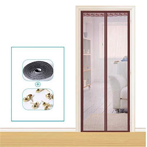 SuRose Moskito-Vorhang Magnetische Bildschirmtür, Magnetische Fliegen-Insektenschutzgitter Türgitter Mesh Vorhang Passt Tür bis 90 x 210 cm,B
