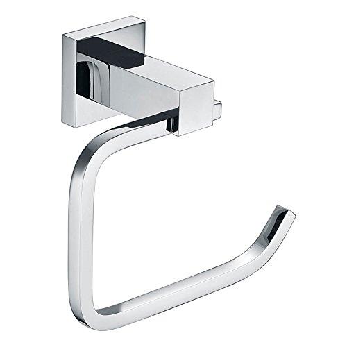 Aothpher Toilettenpapierhalter, WC-Rollenhalter, Klopapierhalter aus Messing Chrom - zur Wandmontage
