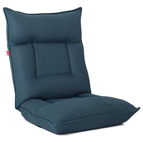 XING-ZI-LAZY-SOFA C-K-P Canapé, Maison Pliable Simple Petit canapé Chambre Balcon Baie vitrée Chaise Chaise de Plancher (Mise à Niveau) (Couleur : Bleu)