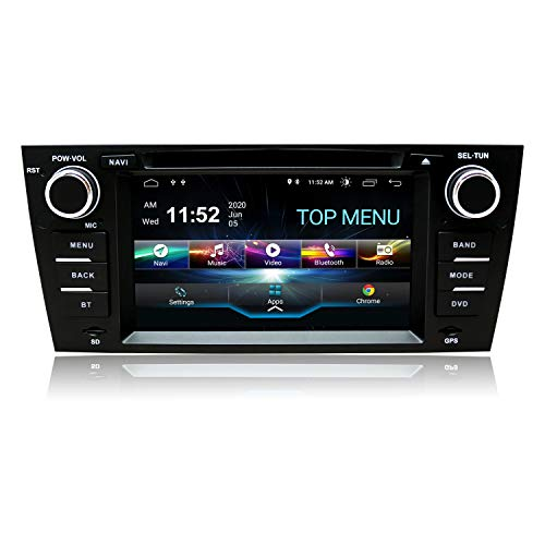 SWTNVIN Car Stereo Android 10.0 7 Inch Car Radio Fits for 3 Series E90/E91/E92/E93 GPS Navigation for Car Support Carplay Android Auto/Bluetooth/WiFi/3G/Fast Boot/DVR/Backup Camera/OBDII