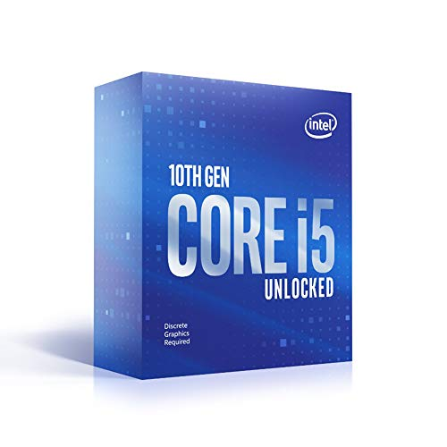 Intel Core i5-10600KF Desktop Processor 6 Cores up to 4.8 GHz Unlocked Without Processor Graphics LGA 1200 (Intel 400 Series chipset) 125W