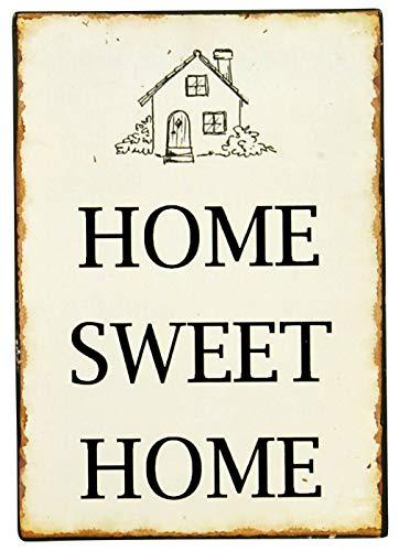 Ib Laursen - Metallschild, Schild - Text: Home sweet Home - 14 x 20 cm