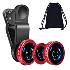 The Fisheye Lens Offers You a Wide Hemispherical Image. The Macro Lens for Taking Extreme Close-Up Pictures of Tiny Objects in Details. The Wide-Angle Lens Projects a Substantially Large Ranges, Such Group of People, Buildings and Landscape. Enjoy a ...
