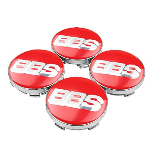 massage 4Pcs 60mm BBS Auto Radnabenkappen Nabendeckel Felgendeckel Emblem Abzeichen Staubdichte Abdeckung, FüR BBS Felge Radkappe Auto Styling