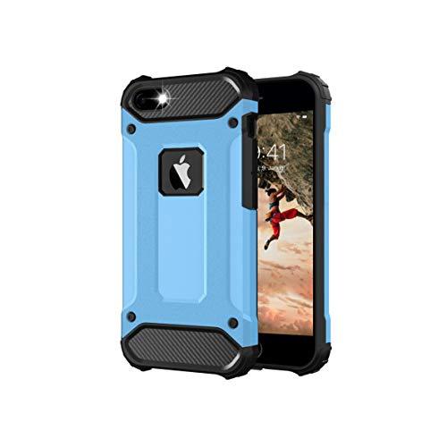 BYONDCASE iPhone 5s Hülle Blau, iPhone 5 Hülle, iPhone SE Hülle 2016 [iPhone 5 Outdoor Hülle Panzer Hardcase] Hybrid R&umschutz Ultra Slim kompatibel mit dem iPhone 5 / 5s / SE 2016 Hülle