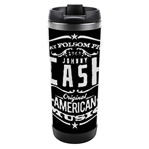 Taza aislada Taza de acero inoxidable con tapa Taza a prueba de fugas Taza de café aislada Johnny-Cash