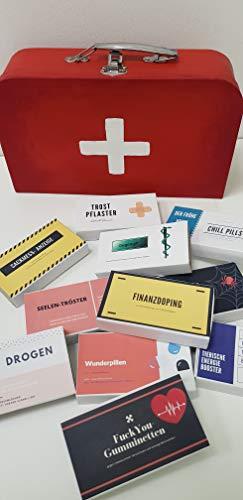 Notfallkoffer Geldgeschenk, Geschenkidee Bastelset für Geburtstage, Hochzeiten und andere Anlässe