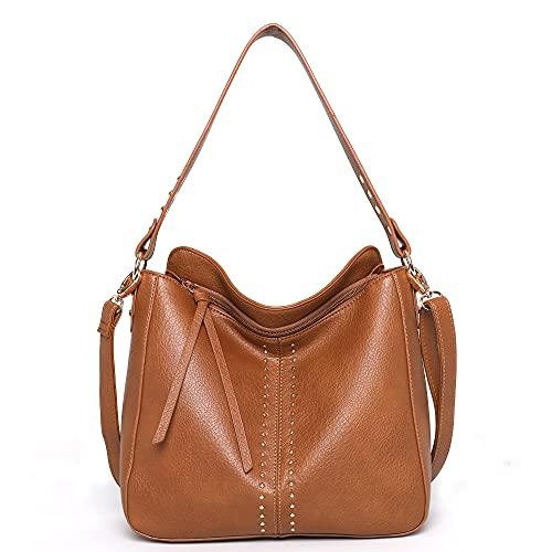 Montana West Hobo Handbag Leather Totes Bag Shoulder handbag Crossbody Bag Brown CW-MWC-2001BR