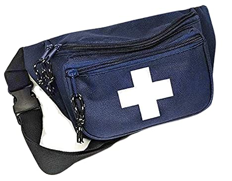 ASA Techmed First Aid Waist Pack - Baywatch Style Fanny Pack - Compact for Emergency at Home  Car  Outdoors  Hiking  Playground  Survival  Camping  Workplace
