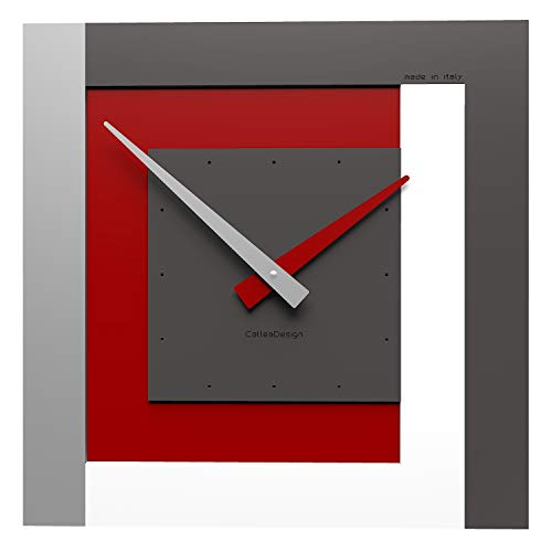 CalleaDesign 40 cm Wanduhr Clock40 Rubin
