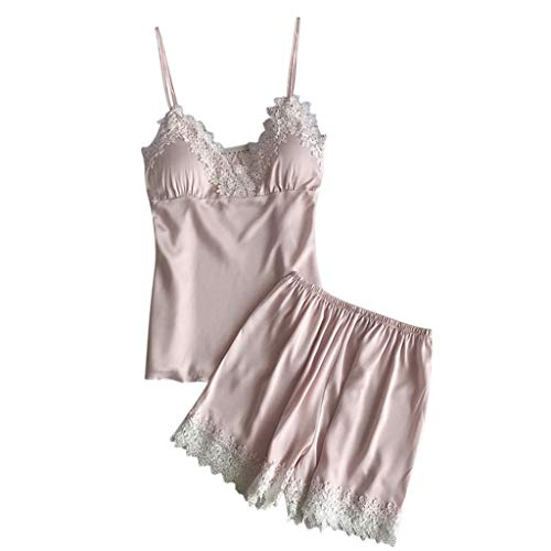 Proumy Conjunto de Pijamas Verano Mujer Baratas Dos Piezas Pijama de Encaje...