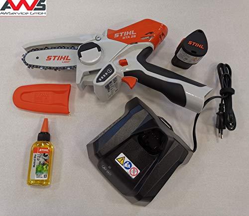 Stihl GTA 26 GA010116900 – Cortador de leña con batería (incluye AS2 y AL1)