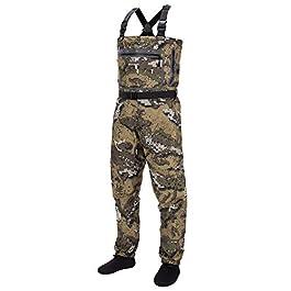 Bassdash Chaussette de pêche en voile respirant ultra léger motif camouflage pour homme en 8 tailles