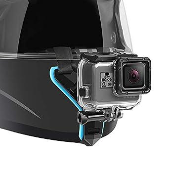 Motorcycle Helmet Chin Strap Mount for GoPro Hero 9 8 7  2018  6 5 4 3 Hero Black Session Xiaomi Yi SJCAM  Blue