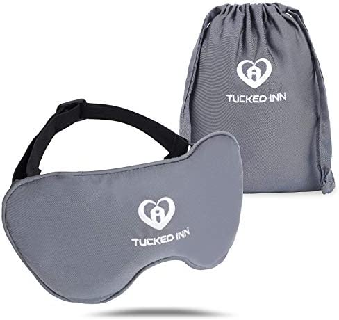 Tucked Inn Sleep Mask Organic Bamboo Cover 1 2 Pound Weighted Eye Mask for Sleeping Relief Night product image