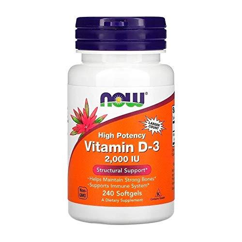 Vitamina D3 2000ui 240 Softgels Now Foods