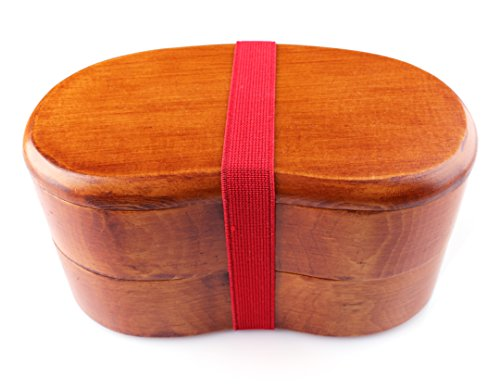 Japanese-style Bento Box - 2-Tiered Lunchbox Kidney-shaped (dark) by...