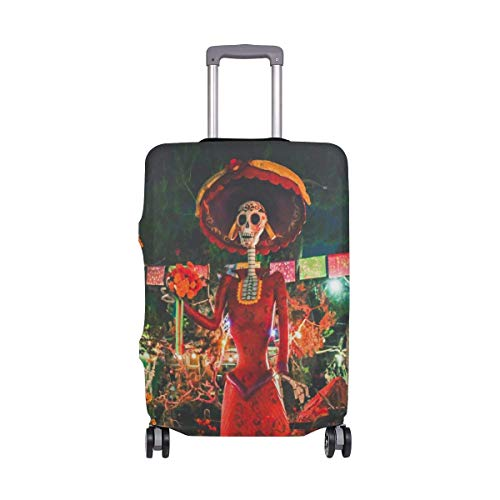 IUBBKI Travel Luggage Cover Skull Farm Garden Suitcase Protector Fits M Washable Baggage Covers