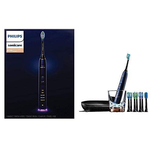 Philips Sonicare DiamondClean Smart 9700 Rechargeable Electric Toothbrush, Lunar Blue HX9957/51