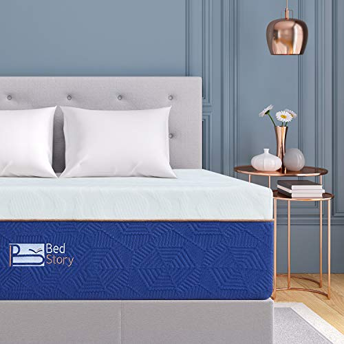BedStory 12 Inch Memory Foam Mattress Queen, Comfort Lavender Memory Foam Mattress