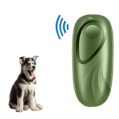 Woniu Repelente Ultrasónico De Mano para Perros, Dispositivos De Disuasión para Ladrar Perros con Collar Inofensivo para Humanos Y Perros,Verde
