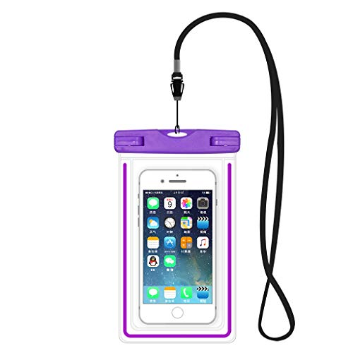 Wassersport Handy Dry Bag Reise Wasserdichte Tasche Hülle für Samsung S9 Plus / S8 Plus / Note9 / Note8 / S7 Active / S6 Edge+ / S8 Active / LG V50 / V40 / V35 / V20 ThinQ / G6 Plus / G7 (lila)