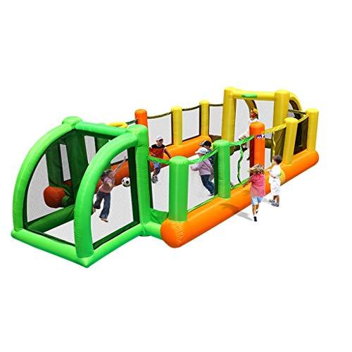 Castillos hinchables Campo De Fútbol Grande para Exteriores Equipo De Deportes Al Aire Libre para Niños (Color : Green+Orange, Size : 800 * 335 * 180cm)