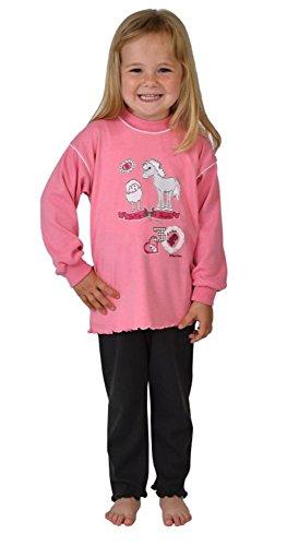 Wörner pour bébé» pour Fille Motif Cheval/Mouton-Bubblegum Pyjama 2 pièces Bavoir-Poncho de Bain à Capuche avec Gant de Toilette