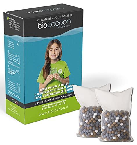 biococoon ACQUA VIVA . sacchetto filtro per acqua alcalina pH e antiossidante ionizzata, elimina...