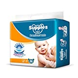 Supples Baby Pants Diapers, Medium (7-12 kg), 72 Count