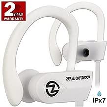Wireless Sport Running Headphones - Best Workout HD Sound Sports in Ear Cordless Earphones - Bluetooth Earbuds w/Mic for Men Women (White)