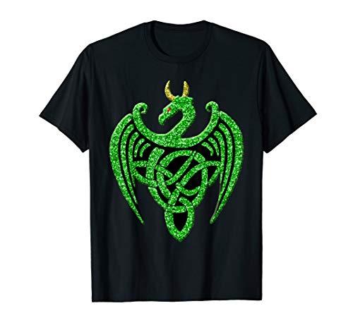 Abstract Green Celtic Knot Irish Dragon Ireland T-Shirt