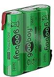 goobay 3X AA (Mignon) - 2100 mAh - 3X AA (Mignon) - Fil à Souder (Z), Pile Nickel-Métal Nickel-Hydrure - 3, 6 V