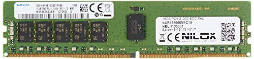 Nilox Ram DDR4 16GB 2666MHz ECC REG CL19 16GB DDR4 2666MHz ECC geheugenmodule