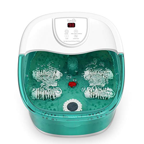 Foot Spa and Massager, Turejo Foot Spa for Home Use, Foot Massager Bath with Bubble, Vibration, 4...